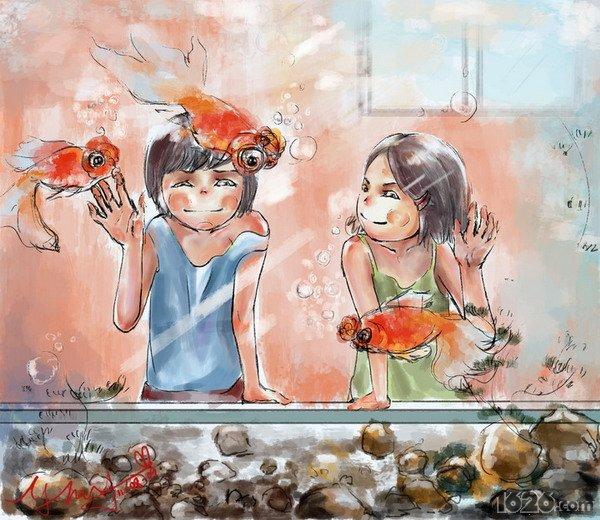 手绘水彩创意生活情感插画——叶茂阳(组图)