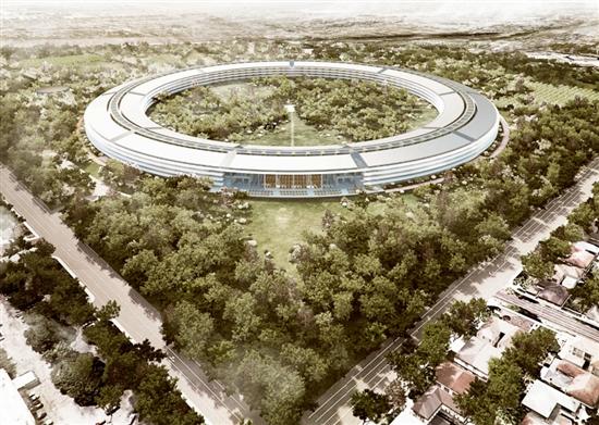 """苹果""""飞船""""新总部更多细节曝光"""