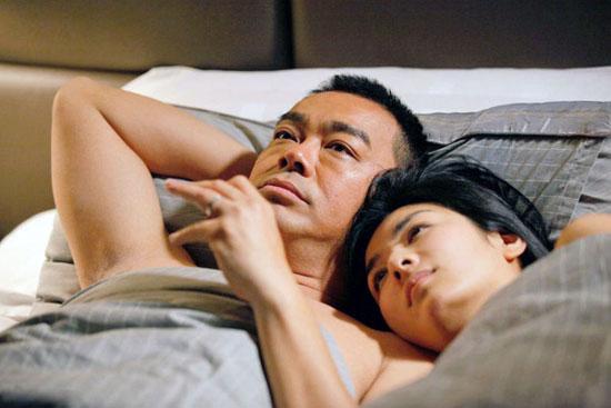 《窃听风云2》黄奕刘青云缠绵床戏