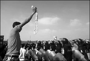 反对者要求严惩穆巴拉克。新华社发