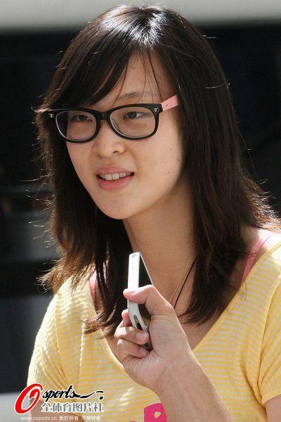 惠若琪接受采访