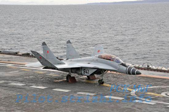 米格 29kub舰载机_印度接收第三批5架米格29KKUB舰载机图