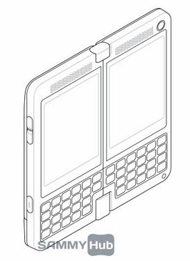 双屏翻转手机设计草图(2)