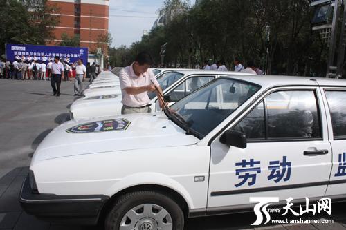 配发给南疆三地州的桑塔纳轿车