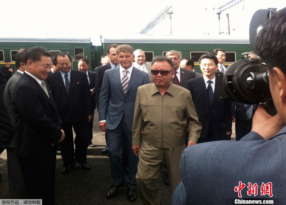 金正日抵达俄罗斯 访问布列亚水电站
