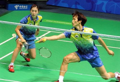 羽毛球比赛视频_图文:大运会羽毛球混双决赛 韩国组合比赛中-搜狐体育