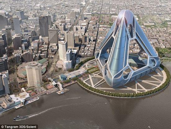 这座漂浮城市的设计灵感来源于2005年