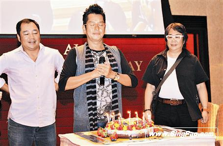 谭咏麟的生日愿望是经济可以稳定一点。香港《成报》