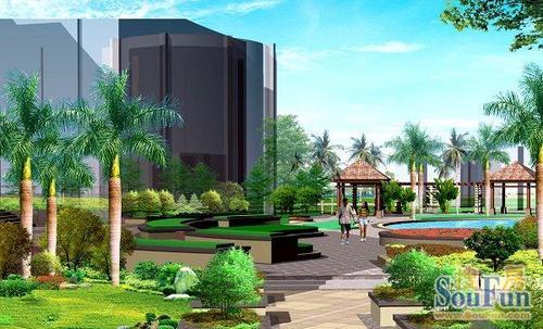 天鹅湖效果图北京别墅区中央图片
