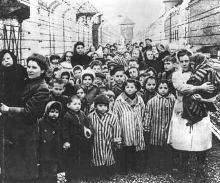 奥斯维辛集中营的女人图片