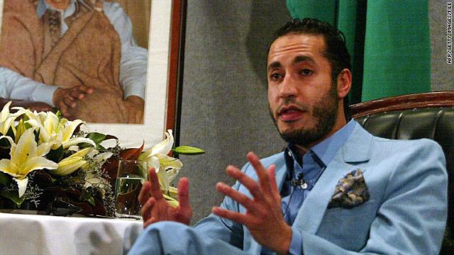 卡扎菲第三个儿子萨阿迪。