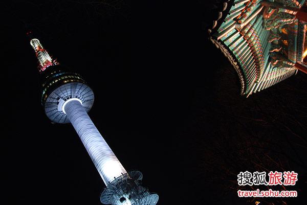 晚上的首尔塔  感谢旅游达人 摇滚芭比 提供图片