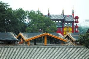 """刘老根会馆内违建""""罩棚""""部分已经拆除"""