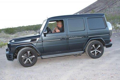 奔驰G级SUV性能版谍照 性能升级 V8引擎高清图片