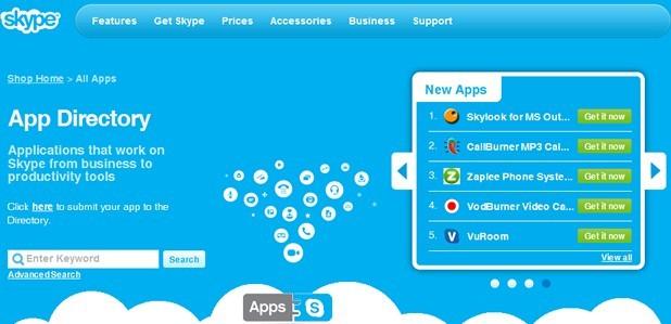 Skype推出應用商店服務預計週三正式上線