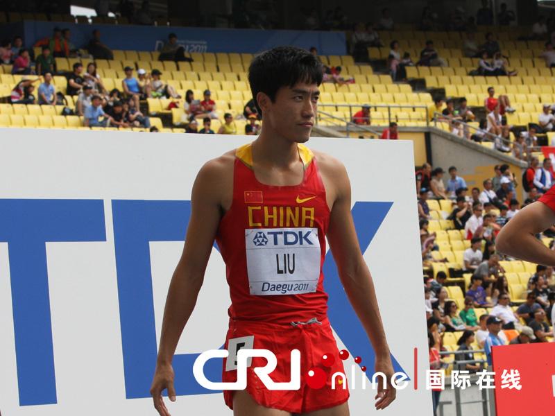 2011大邱田径世锦赛男子110米栏的预赛8月28日上午正式拉开帷幕。中国飞人刘翔跑出了13秒20的成绩,以小组第一、预赛第二的身份晋级半决赛。