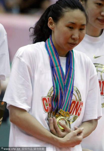 图文:[亚锦赛]女篮胜韩国 苗立杰挂满金牌