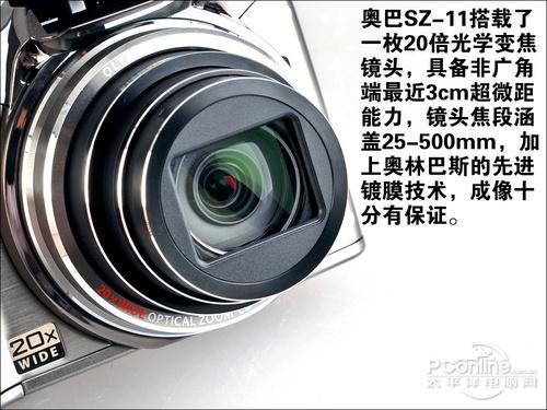 奥林巴斯SZ-11的镜头
