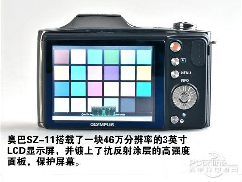 奥林巴斯SZ-11的显示屏