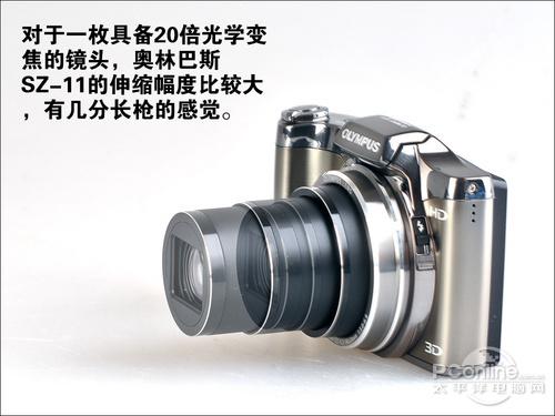 奥林巴斯SZ-11的镜头伸缩图