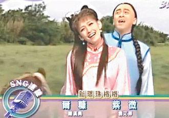 尔康紫薇骑马奔驰的情节被台湾综艺节目恶搞模仿。