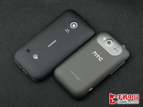 华为C8650和HTC野火S A510c的背面设计