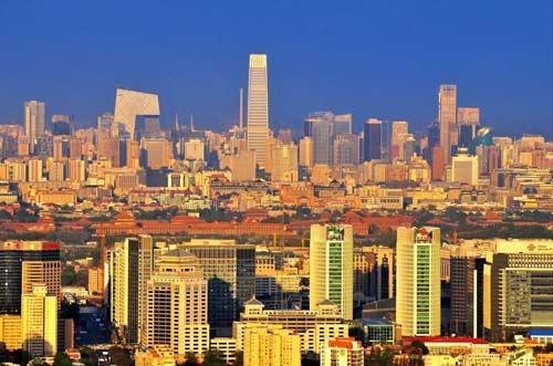从中央电视塔俯瞰京城东部