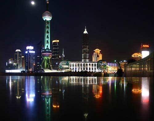 璀璨的黄埔江夜景
