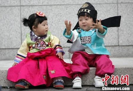 韩国小孩传统服饰