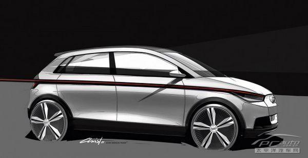 奥迪a2概念车设计图发布 法兰克福首发