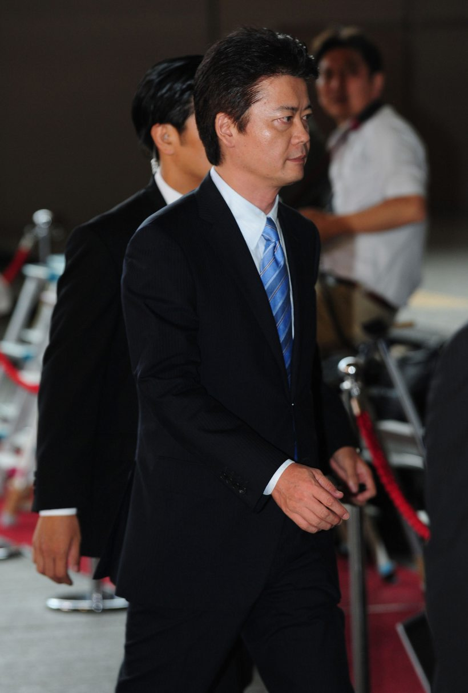 2011年9月2日,日本新任外务大臣玄叶光一郎抵达首相官邸.