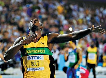 博尔特200米夺冠 这次起跑倒数第一