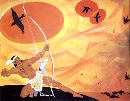 中秋神话传说之吴刚折桂 玉兔捣药与后羿射日