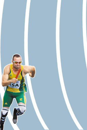 """""""刀锋战士""""奥斯卡·皮斯托瑞斯成为田径世锦赛历史上第一位获得奖牌的残疾人。"""