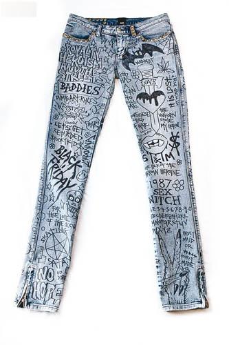 涂鸦画作牛仔裤$6,999