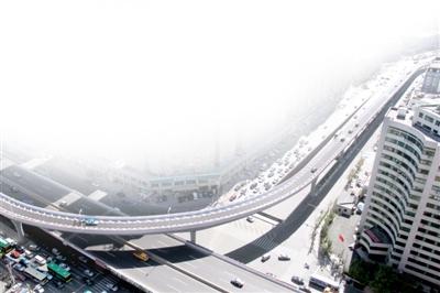 新康高架桥提前35天竣工通车 去机场更顺畅(组图)