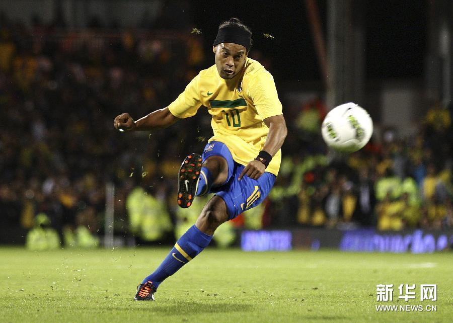 当日,在英国伦敦举行的一场国际足球友谊赛中,巴西队以1比0战胜加纳队