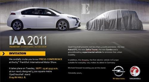 纯电力驱动 欧宝全新概念车预告图发布