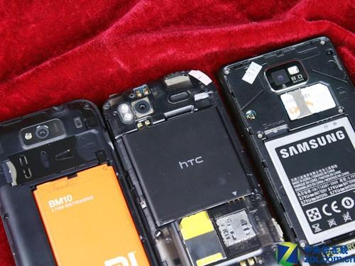 双核争霸 Sensation/I9100/小米手机对比
