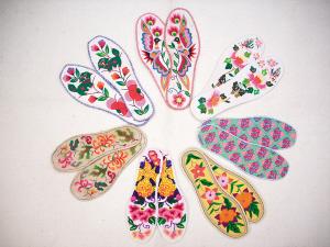 八针绣鞋垫图案大全 手工绣鞋垫花样图 手工绣鞋垫花样图纸 手工鞋垫