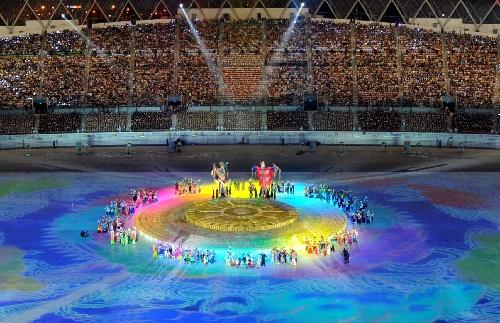 少数民族传统运动会开幕 多彩的开幕式