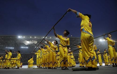 少数民族传统运动会开幕 投入的表演
