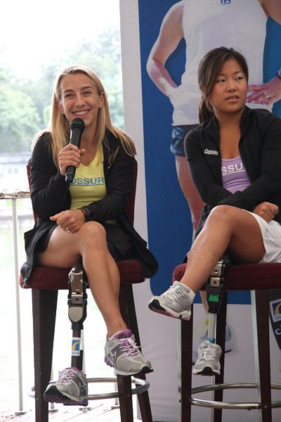图文:铁人三项世锦赛残疾美女