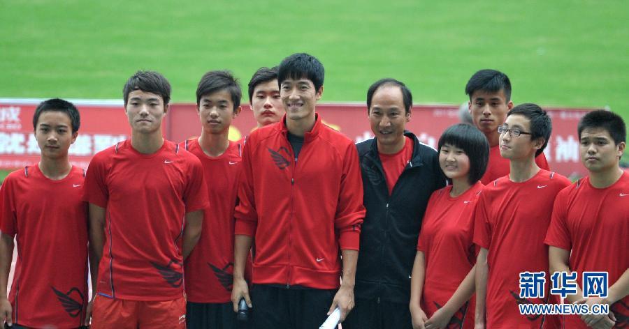 刘翔携教练助阵2011全国田径锦标赛