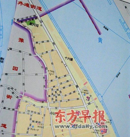 在2006年出版的《上海市政区地名图集》上,高桥路、枫泾路9条小马路都赫然在列。 李继成 图   一个个地块被开发,一处处高楼拔地而起,上海的城市形态、道路布局正在发生巨大变化。一些老上海曾经耳熟能详的道路也随之不复存在,不仅从地图上消失,在现场也找寻不到。地名管理部门表示,即便道路实体已不存在,但为方便市民,不会马上注销这些路名,有的还会沿用。   地块内小路都找不到了   在外滩8-1地块上将建起外滩国际金融服务中心(双子塔),整个地块北至龙潭路,南至东门路,西至人民路,东至中山东二路,总面积4