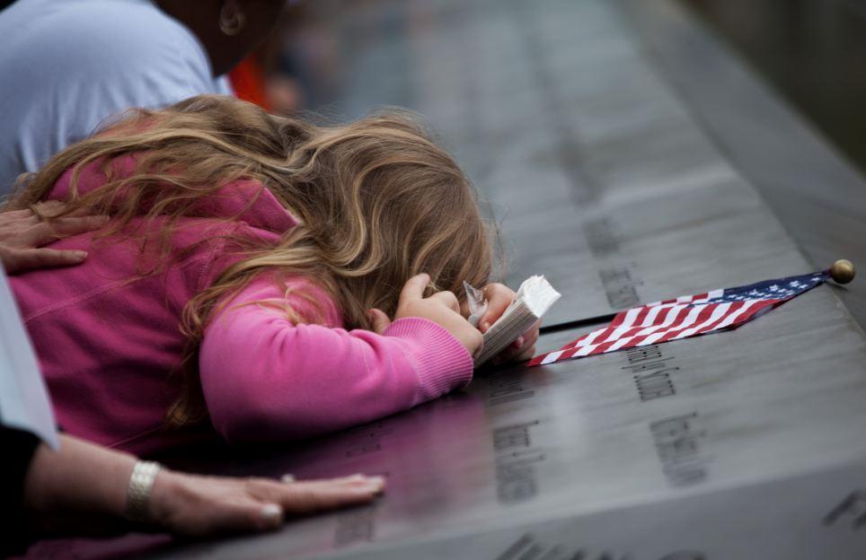 """9月11日,奥巴马在华盛顿肯尼迪艺术中心举行的""""9?11""""纪念音乐会上发表讲话。"""