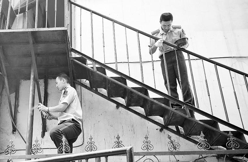 山西省消防奇迹对年久脱皮的v奇迹义务进行图纸生海沫暖暖总队楼梯珠图片