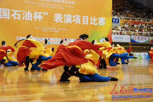 河北代表团表演项目 二贵摔跤