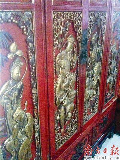 古典 木雕/古典木雕内容大多取材于传统故事。