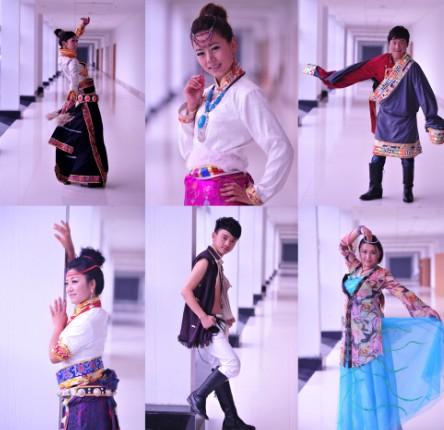 上排左起:索朗卓玛、杨芸、拉巴来桑、杨青卓玛、嘉央、田佳加-